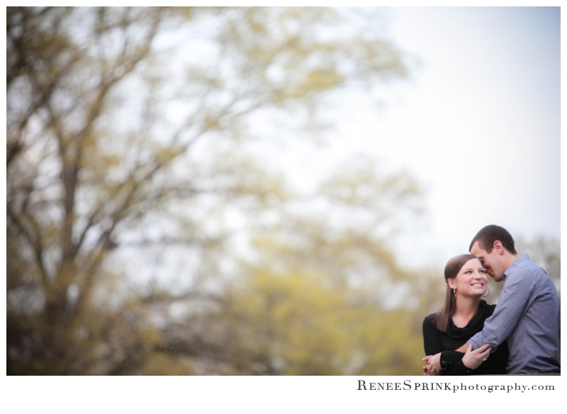 Raleigh Pullen Park engagement photo