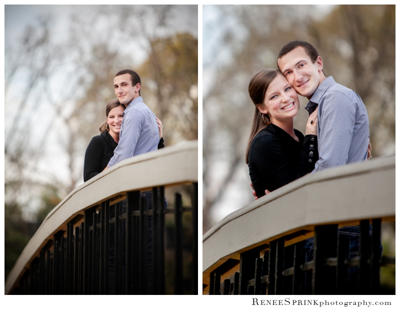 Raleigh Pullen Park engagement picture