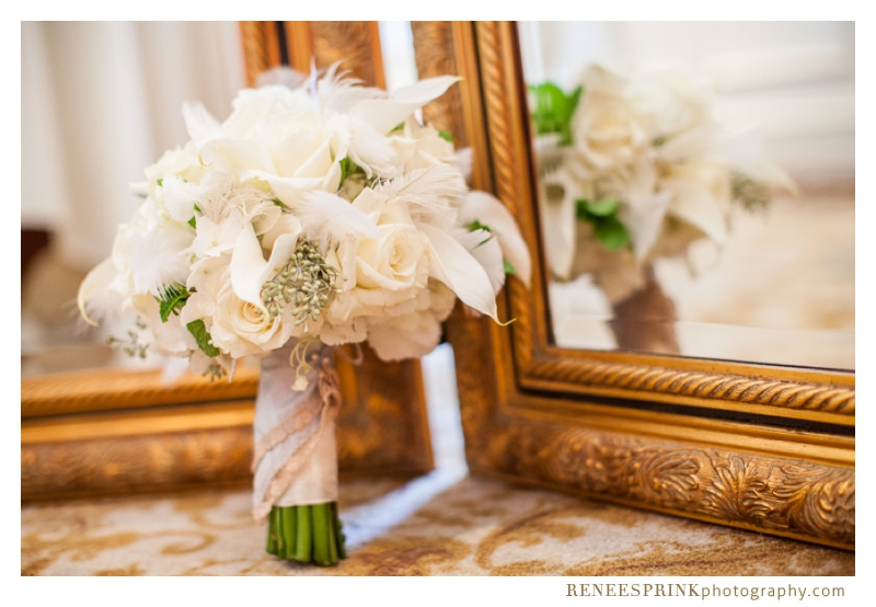 photo of bridal bouquet at Brier Creek Country Club wedding