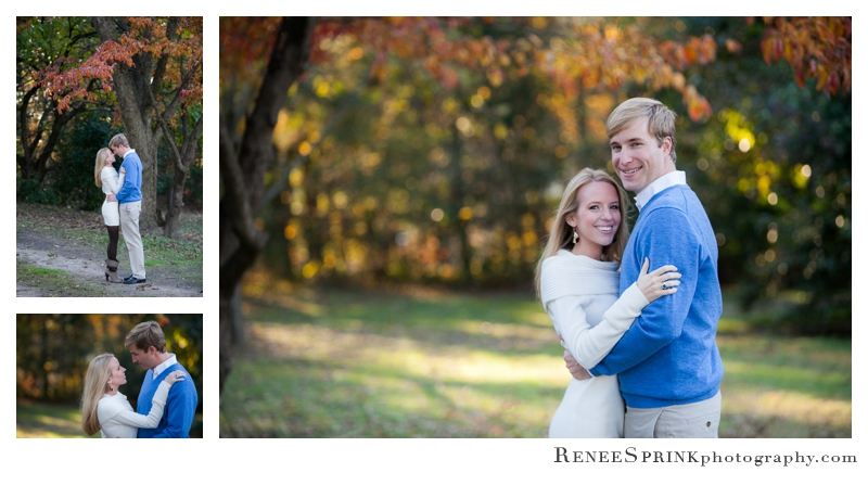 Engagement photos at Oak View Park in Raleigh NC
