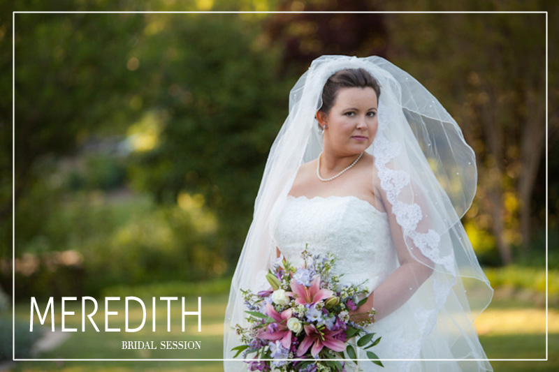 photos of a bride at Fletcher Park in Raleigh